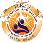 M.K.E.S College of Law. Mumbai logo